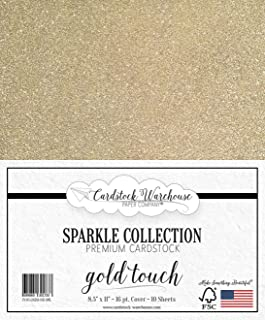 MirriSparkle Gold Touch Glitter Cardstock Paper from Cardstock Warehouse 8.5