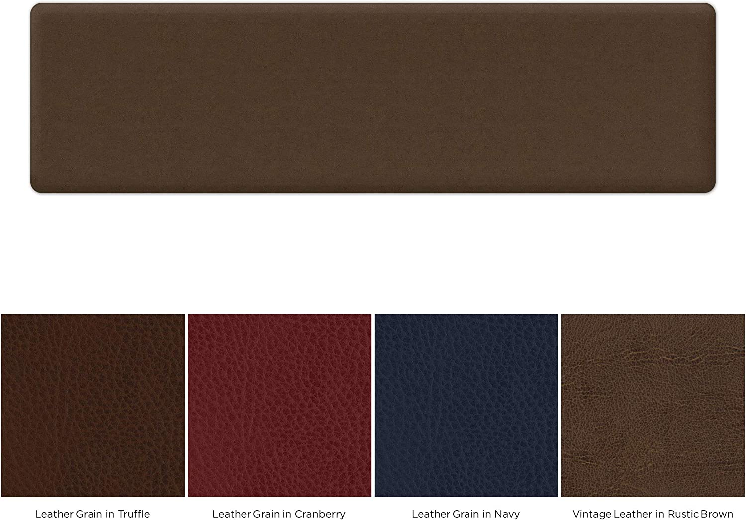 NewLife by GelPro Utility Comfort Mat 20  x 72  Vintage Leather Rustic Brown