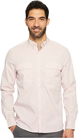 Kenneth Cole Sportswear - Long Sleeve Solid Stretch Utility