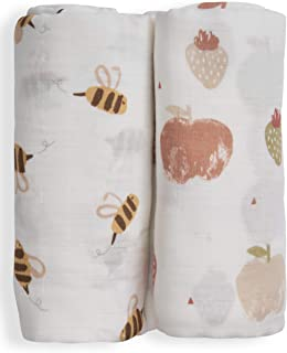 Nightingale Baby Swaddle Blankets - Organic Bamboo Muslin Swaddle Blankets Unisex - Silky Soft, Lightweight, Breathable, L...