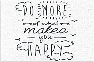 Quotes Cloud Decor Do More of What Makes You Happy Clouds Achievement Attitude Positivity Image Charcoal Grey White Mats N...