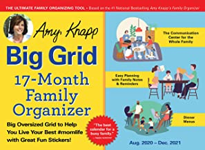 Download 2021 Amy Knapp's Big Grid Family Organizer Wall Calendar: August 2020-December 2021 PDF