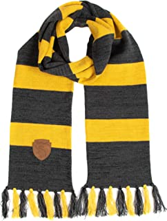 Hufflepuff Knit Scarf with Patch Emblem