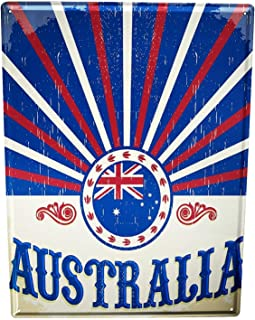 in the Ivy Globetrotter Australia Funny Aluminum Metal Sign Funny Easy to Mount Indoor & Outdoor Use 8 x 12
