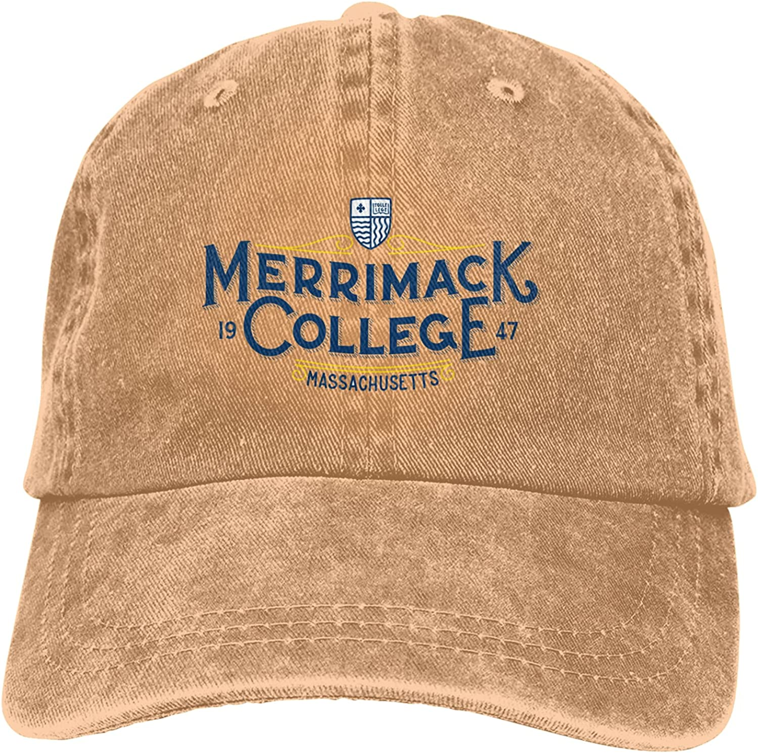Yund Free shipping New Merrimack All items free shipping College1 Cap Suitable Adjus Students. College for