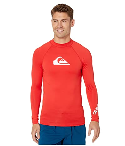 Quiksilver All Time Long Sleeve Rashguard (High Risk Red) Men