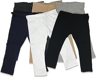 Boys Girls Toddler Little Kids Unisex 6 Pack Cotton Stretch Snug Fitting Long Pant Leggings