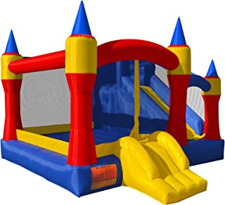Cloud 9 Royal Slide Bounce House - Inflatable Bouncing Jumper Without Blower