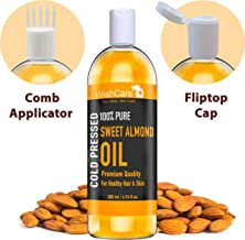 WishCare Pure Cold Pressed Sweet Almond Oil for Hair and Skin, 200ml