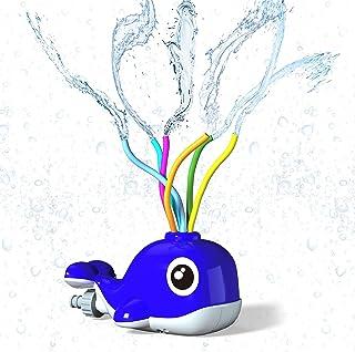 Kiztoys Sprinkler for Kids Outdoor Toy Water Sprinkler Whale Water Toy of Backyard with Wiggle Tubes Spray Splashing Fun f...