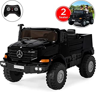 Best Choice Products Kids 24V 2-Seater Mercedes-Benz Ride-On SUV Truck w/ Remote Control, 3.7 MPH Max, Lights - Black