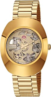 DiaStar Original Swiss Automatic Watch with Stainless Steel Strap, Gold, 21 (Model: R12064253)
