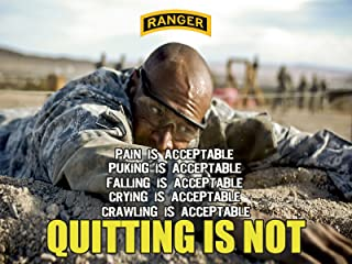 Army Rangers Poster Army Motivation Poster Rangers Creed 18X24 (RANGERSV77)