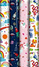 Cute Character Children's Gift Wrapping Paper roll - 3m - Pack of 4