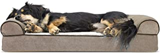 Furhaven Pet Dog Bed | Therapeutic Sofa-Style Traditional...