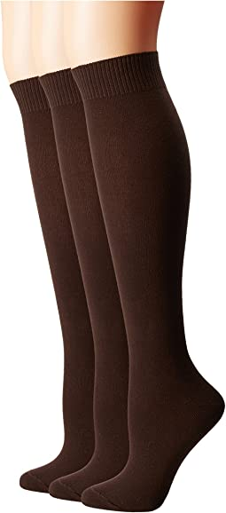Flat Knit Knee Socks 3-Pack