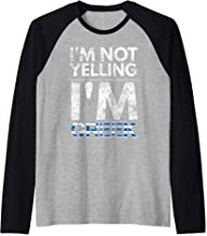 I'm not yelling I'm Greek Elliniki simaia Raglan Baseball Tee