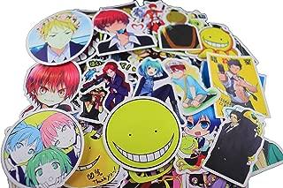 50 Pcs Assasination Classroom Anime tv Show Creative Sticker Pack Funny Decorative Cartoon for Cartoon PC Luggage Computer Notebook Phone Home Wall Garden Window Snowboard Stickers
