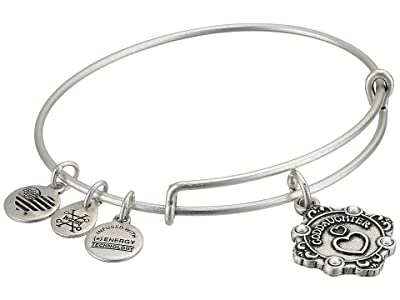 Alex and Ani Because I Love You Goddaughter II Bangle (Rafaelian Silver) Bracelet