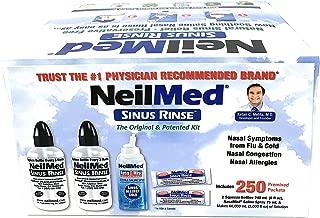 NeilMed Sinus Rinse - 2 Bottles - 250 Premixed Packets
