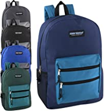 Wholesale High Trails 19 Inch Double Zip Backpack With Two Side Mesh Pockets (Boys 5 Pack Assorted)