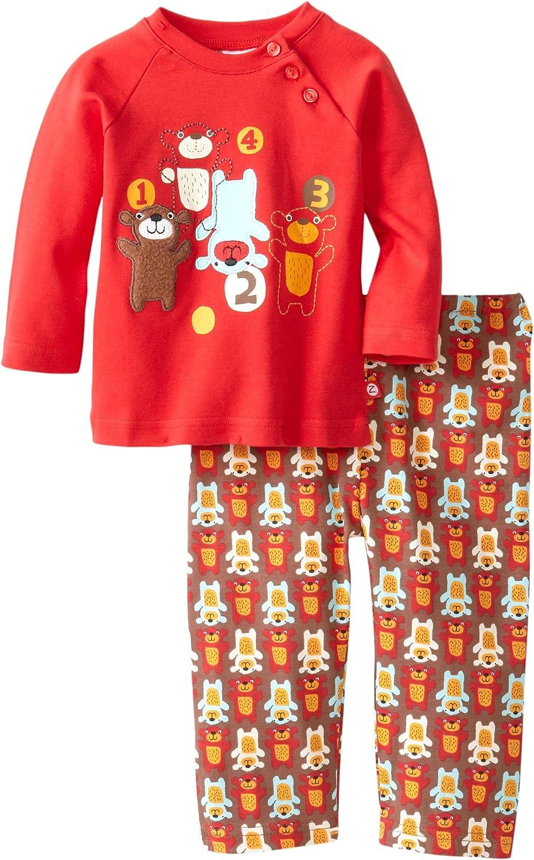 Zutano Baby Boys Little Bear Applique Shirt and Pant Set