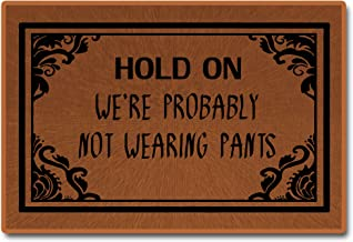 "Hold On We're Probably Not Wearing Pants Doormat Non-Woven Fabric Home Decor Indoor Mats for Entry Floor Mats 23.6""(L) x 1..."