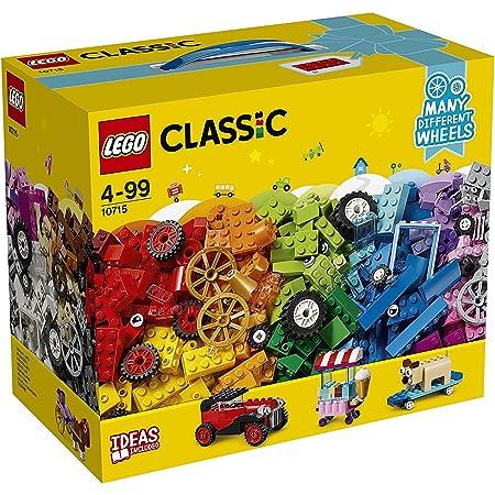LEGO 10715 Classic LaboîtedeBriquesetdeRoues colorées, Jeu de Construction avec pneus et Roues - 448 pièces