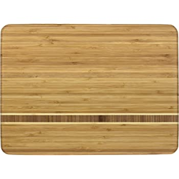 """Totally Bamboo Martinique Bamboo Serving and Cutting Board, 15"""" x 11"""""""