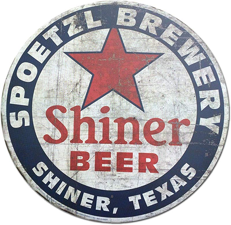 Shiner Beer Shiner Texas Vintage Style Round Tin Sign Metal Sign Metal Decor Wall Sign Wall Poster Wall Decor Door Plaque TIN Sign 12X12 INCH