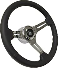 Volante Sport Leather 6-Bolt Chrome Steering Wheel compatible with Late 1974-1979 Volkswagon