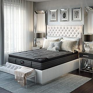 Savile Row No. 1 Premium Innerspring and Memory Foam Hybrid Euro Top 14.5 Inch Luxury Mattress, Queen