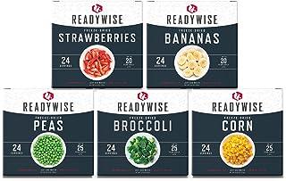 ReadyWise Freeze-Dried Fruit & Vegetable Box Kit  Emergency Food   120 Servings