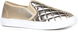 J. Adams Round Toe Slip On Sneaker - Adorable Cushioned Glitter Shoe - Easy E. US