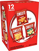 Cheez-It Baked Snack Cheese Crackers, Variety Pack, Original, White Cheddar, Cheddar Jack (12 Count)