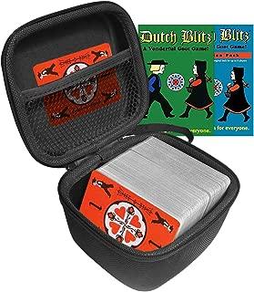 FitSand(TM Dutch Blitz Original and Expansion Pack Set Card Game Case, Travel Zipper Carry EVA Hard Case Best Protection