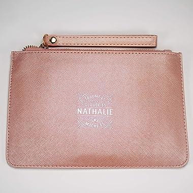Persönliche Clutch und Kosmetiktasche Nathalie - aus Kunstleder in Pastellfarben - Damen Handtasche Abendtasche - Geschenk /