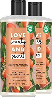 Love Beauty & Planet Majestic Moisture Body Wash Protects and Hydrates Dry Skin Shea Butter & Sandalwood Paraben Free and ...