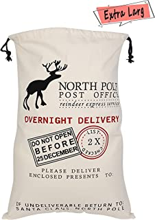 Oileus Extra Large Christmas Bags Personalized Santa Sack for Gifts with Drawstring (Extra Large, Deer)
