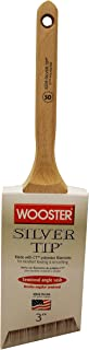 The Wooster Brush Company 5228-3 Silver Tip Semi-Oval Thin Angle Sash, 3
