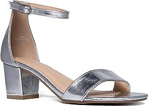 J. Adams Ankle Strap Kitten Heel - Adorable Low Block Heel - Daisy