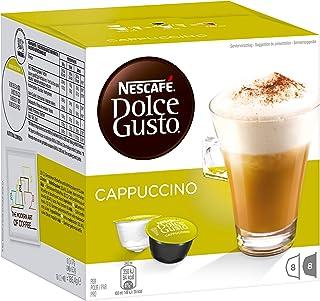 Nescafé Dolce Gusto Cappuccino, Café au Lait, Capsule de Café, 16 Capsules (8 Portions)