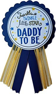 Daddy to Be Pin Twinkle Little Star Baby Shower Pin for dad to wear, Navy & Gold, It's a Girl, It's a Boy Baby Sprinkle