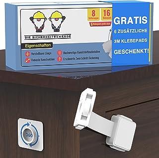 Sicherheitszwerge Premium Kindersicherung Schubladen 8er Pack Schranksicherung Baby - Schubladensicherung Baby - Kindersicherung Schrank