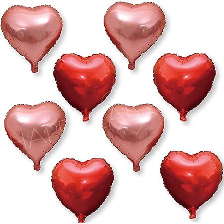 アルミ ハートバルーン 36cm カラー が選べるパーティー イベント バルーン 風船 (レッド×ピンク)