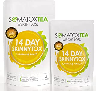 SOMATOX 14 DAY SKINNYTOX Detox Tea - With Garcinia Cambogia • Premium Detox Tea • Teatox • Green Tea • Organic Tea • Diet Herbal Tea ★ UK Product