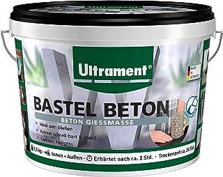 Ultrament Bastel-Beton, hochwertiger Gießbeton perfekt für kreative Deko Gestaltungen, 3,5 kg nur zum Gießen