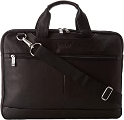 "Kenneth Cole Reaction Colombian Leather - 2.5"" Double Gusset Top Zip Computer Case"