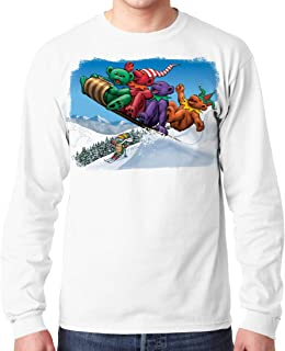Liquid Blue Grateful Dead Dancing Toboggan Bears Long Sleeve Tee