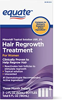 Equate Hair Regrowth Treatment for Women 3 Month Supply   USA, 2 Ounces